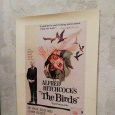 Cine: LÁMINA REPRODUCCIÓN CARTEL DE ''THE BIRDS'' (LOS PÁJAROS) DE ALFRED HITCHCOCK. Lote 158592558