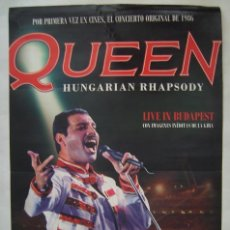 Cinema: QUEEN, LIVE IN BUDAPEST DE MERCURY. POSTER 70 X 100 CMS.. Lote 190443596
