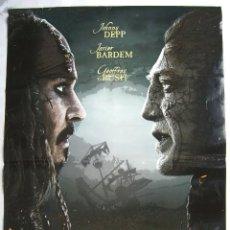 Cine: PIRATAS DEL CARIBE, LA VENGANZA DE SALAZAR, CON JOHNNY DEPP. POSTER 68 X 98 CMS. 2017.. Lote 158635858