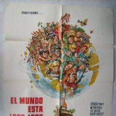 Cine: EL MUNDO ESTÁ LOCO, LOCO, LOCO, LOCO, CON SPENCER TRACY. POSTER 69,5 X 99,5 CMS. 1974.. Lote 251731500