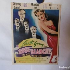 Cine: CARTEL LITOGRAFICO - LOS HOMBRES QUE LA AMARON. Lote 158641554