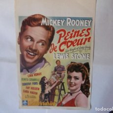 Cine: CARTEL LITOGRAFICO - LOVE LAUGHS AT ANDY HARDY. Lote 158645214