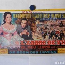 Cine: CARTEL LITOGRAFICO - EL ARBOL DE LA VIDA. Lote 158648686