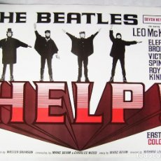 Cine: THE BEATLES, HELP, DE RICHARD LESTER. 68,5 X 96 CMS.. Lote 158649206