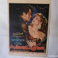 Cine: CARTEL LITOGRAFICO - LOS AMORES DE CARMEN. Lote 158651194