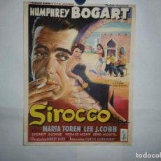 Cine: CARTEL LITOGRAFICO - SIROCCO. Lote 158651646
