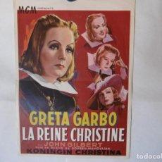 Cine: CARTEL LITOGRAFICO - LA REINA CRISTINA DE SUECIA. Lote 158652362