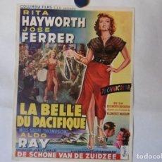 Cine: CARTEL LITOGRAFICO - LA BELLA DEL PACÍFICO. Lote 158652478