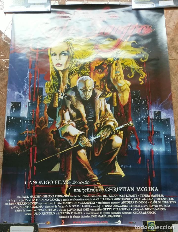 Cine: Rojo Sangre cartel original 100x70 cm de Christian Molina con Paul Naschy - Foto 2 - 158811486