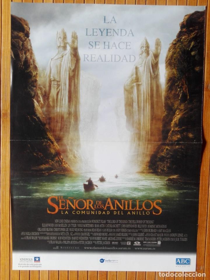 PÓSTER EL SEÑOR DE LOS ANILLOS - LA COMUNIDAD DEL ANILLO (Cine - Posters y Carteles - Aventura)