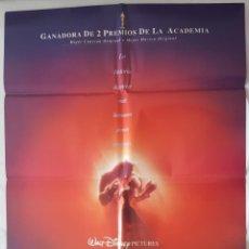 Cinema: CARTEL DE CINE / LA BELLA Y LA BESTIA / 1991 / 70X100. Lote 159106158