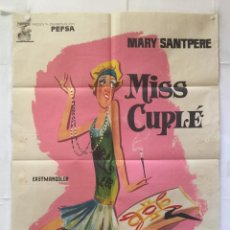 Cine: MISS CUPLE - POSTER CARTEL ORIGINAL - MARY SANTPERE MARIA MAHOR PEDRO LAZAGA JANO. Lote 159111350
