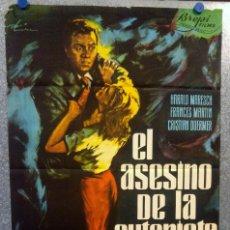 Cine: EL ASESINO DE LA AUTOPISTA. HARALD MARESCH, FRANCES MARTIN. POSTER ORIGINAL. Lote 159132666