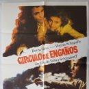 Cine: CARTEL DE CINE / CIRCULO DE ENGAÑOS / 1981 / 70X100. Lote 159158274