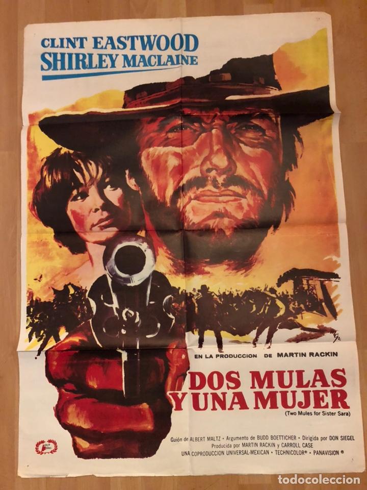 Cartel O Poster Dos Mulas Y Una Mujer Clint Eas Buy Western Film Posters At Todocoleccion 159205305