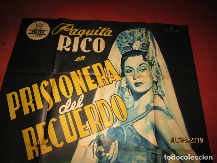 Cine: Antiguo Cartel Litografía Gigante PRISIONERA DEL RECUERDO con Paquita Rico - PERIS ARAGÓ - Foto 6 - 159245130