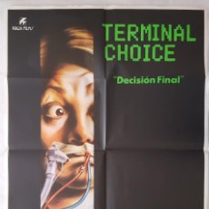 Cine: CARTEL DE CINE / DECISION FINAL (TERMINAL CHOICE) 1985 / 70X100. Lote 159265478