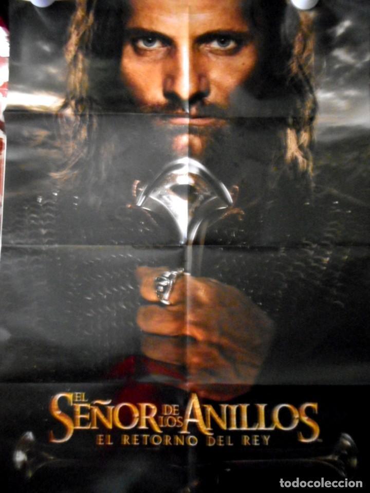 PÓSTER EL SEÑOR DE LOS ANILLOS : EL RETORNO DEL REY ( ARAGORN ) 89,5 X 64 CM (Cine - Posters y Carteles - Aventura)