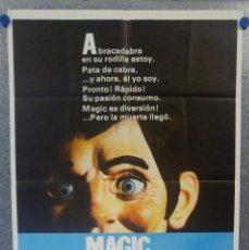 Cine: MAGIC. ANTHONY HOPKINS, ANN-MARGRET, BURGESS MEREDITH. AÑO 1978. POSTER ORIGINAL. Lote 159396530