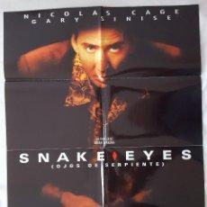 Cine: CARTEL DE CINE / OJOS DE SEPIENTE (SNAKE EYES) / 1998 / 70X100. Lote 159403790