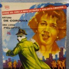 Cine: EL HOMBRE QUE LOGRÓ SER INVISIBLE. ARTURO DE CÓRDOVA, ANA LUISA PELUFFO . AÑO 1961. POSTER ORIGINAL. Lote 159405934
