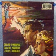 Cine: SECUESTRADO EN LONDRES. DAVID FARRAR, DAVID KNIGHT, JULIA ARNALL. POSTER ORIGINAL. Lote 159520558