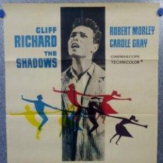 Cine: LOS AÑOS JÓVENES. CLIFF RICHARD, ROBERT MORLEY, CAROLE GRAY. AÑO 1963. POSTER ORIGINAL. Lote 159546954