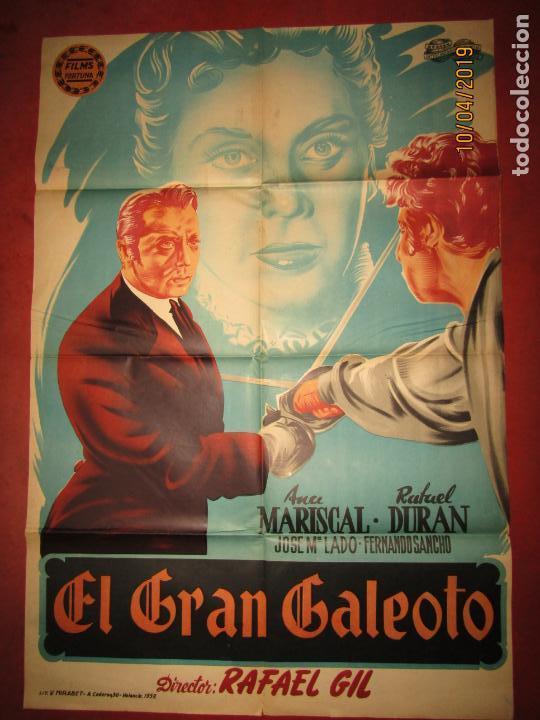 Cine: Antiguo Cartel en Litografía EL GRAN GALEOTO con Ana Mariscal - Litografia MIRABET en Valencia - Foto 3 - 159551818