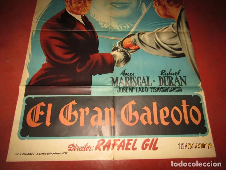 Cine: Antiguo Cartel en Litografía EL GRAN GALEOTO con Ana Mariscal - Litografia MIRABET en Valencia - Foto 4 - 159551818