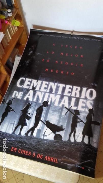 STEPHEN KING. POSTER GIGANTE! CEMENTERIO DE ANIMALES. 118X175!!! LOS QUE PONEN EN LA CALLE. UNICO. (Cine - Posters y Carteles - Terror)