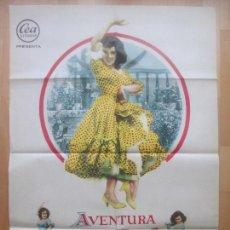 Cine: CARTEL CINE, AVENTURA PARA DOS, CARMEN SEVILLA, RICHARD KILEY, 1961, C1500. Lote 159984022