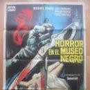 Cine: CARTEL CINE, HORROR EN EL MUSEO NEGRO, JUNE CUNNINGHAM, GRAHAM CURNOW, 1973, C1505. Lote 159985414