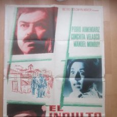 Cine: CARTEL CINE, EL INDULTO, PEDRO ARMENDARIZ, CONCHITA VELASCO, C1513. Lote 159992386