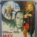 Cine: MAX Y LOS CHATARREROS. MICHEL PICCOLI, ROMY SCHNEIDER. AÑO 1986. POSTER ORIGINAL. Lote 160141714