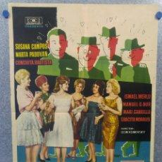 Cine: ESCUELA DE SEDUCTORAS. SUSANA CAMPOS, MARTA PADOVAN, CONCHITA BAUTISTA AÑO 1962. POSTER ORIGINAL. Lote 160149930