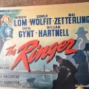 Cine: CARTEL ORIGINAL THE RINGER (1952) POR GUY HAMILTON CON HERBERT LOM, DONALD WOLFIT, MAI ZETTERLING. Lote 160193990
