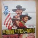Cine: CARTEL CINE, EL BUENO, EL FEO Y EL MALO, CLINT EASTWOOD, LEE VAN CLEEF, C1544. Lote 160260770