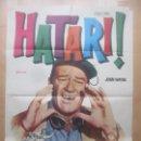 Cine: CARTEL CINE, HATARI!, JOHN WAYNE, HARDY KRUGER, 1972, C1546. Lote 160261262