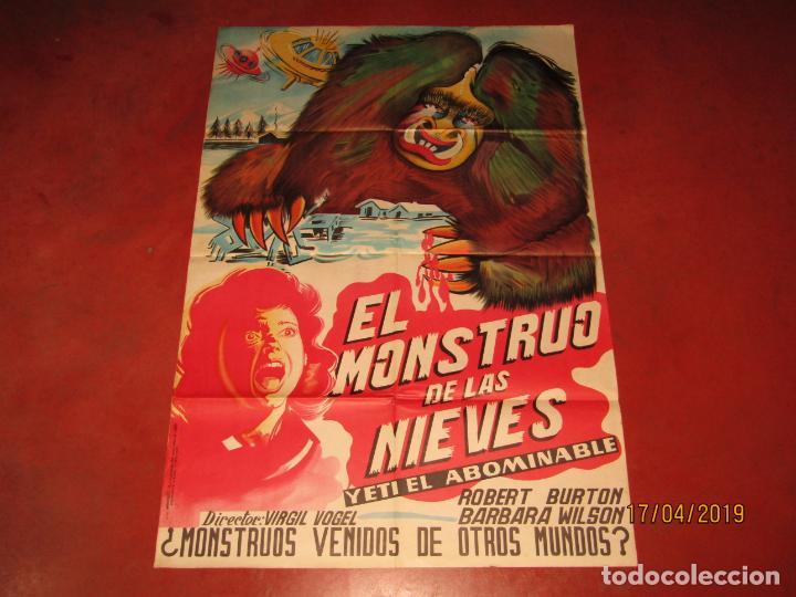Cine: Antiguo Cartel en Litografía EL MONSTRUO DE LAS NIEVES - Litografia MIRABET en Valencia - Foto 2 - 160271170