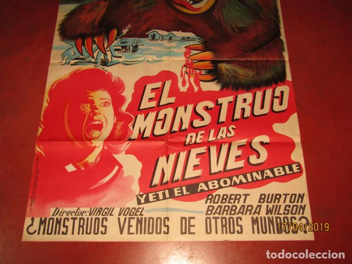 Cine: Antiguo Cartel en Litografía EL MONSTRUO DE LAS NIEVES - Litografia MIRABET en Valencia - Foto 3 - 160271170