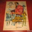 Cine: ANTIGUO CARTEL ORBITA MORTAL DIBUJANTE HERMIDA POR LITOGRAFIA MIRABET EN VALENCIA. Lote 160271830