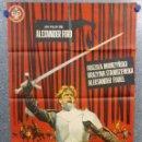 Cine: LOS CABALLEROS TEUTÓNICOS. URSZULA MODRZYNSKA, GRAZYNA STANISZEWSKA . AÑO 1966. POSTER ORIGINAL. Lote 160372686