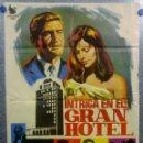 Cine: INTRIGA EN EL GRAN HOTEL. ROD TAYLOR, CATHERINE SPAAK, KARL MALDEN. AÑO 1968. POSTER ORIGINAL. Lote 160382562