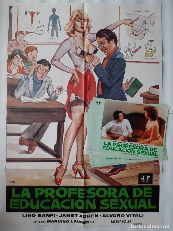 CARTEL CINE, LA PROFESORA DE EDUCACION SEXUAL, LINO BANFI, JANO , + 12 FOTOCROMOS (Cine - Posters y Carteles - Comedia)