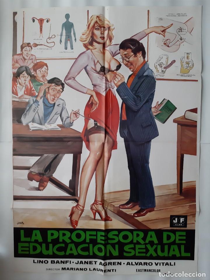 Cine: CARTEL CINE, LA PROFESORA DE EDUCACION SEXUAL, LINO BANFI, JANO , + 12 FOTOCROMOS - Foto 2 - 160473838