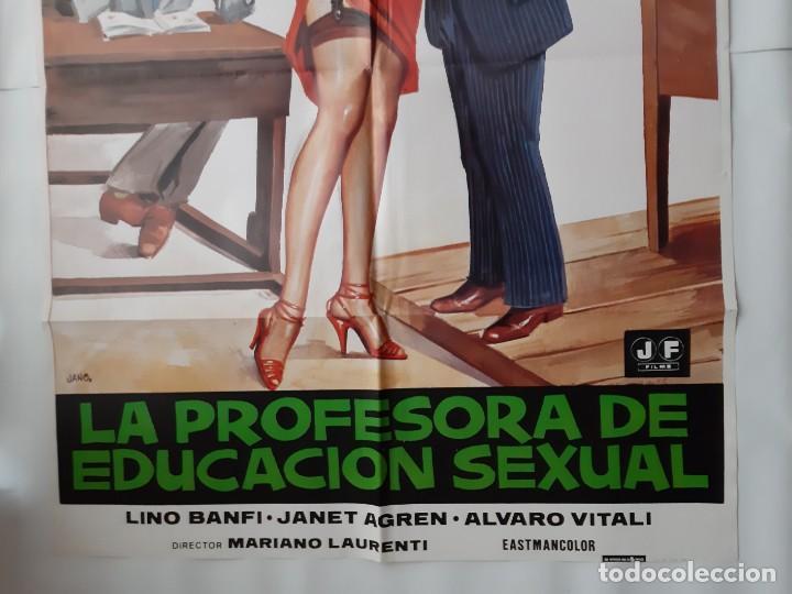 Cine: CARTEL CINE, LA PROFESORA DE EDUCACION SEXUAL, LINO BANFI, JANO , + 12 FOTOCROMOS - Foto 4 - 160473838
