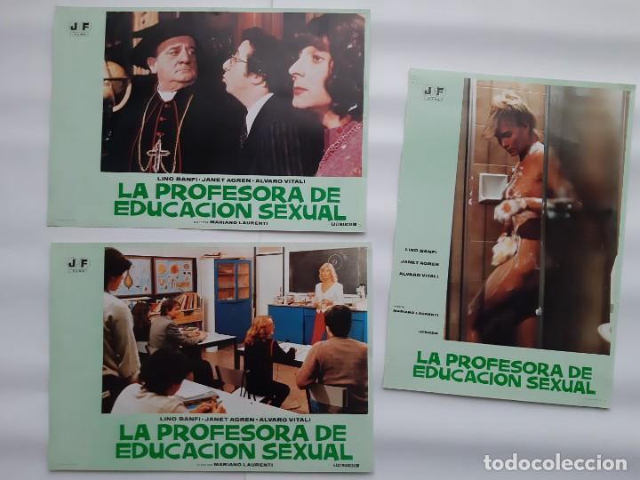 Cine: CARTEL CINE, LA PROFESORA DE EDUCACION SEXUAL, LINO BANFI, JANO , + 12 FOTOCROMOS - Foto 7 - 160473838