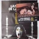 Cine: CARTEL CINE, LAS ORGIAS DE LA LOCURA, + 8 FOTOCROMOS FORMATO GRANDE. Lote 160475966