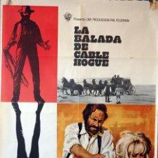 Cine: LA BALADA DE CABLE HOGUE. SAM PECKIMPAH-JASON ROBARDS-STELLA STEVENS. CARTEL ORIGINAL 1970. Lote 160612150