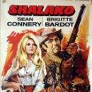 Cine: SHALAKO. SEAN CONNERY Y BRIGITTE BARDOT. CARTEL ORIGINAL 1980. 100X70. Lote 160612574